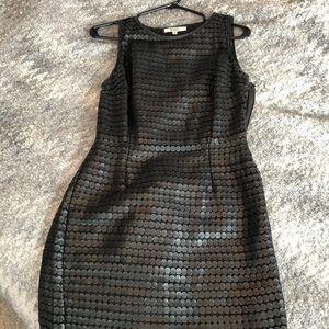 Black vegan leather BB Dakota dress